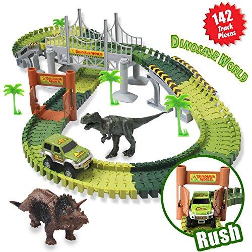 ACTRINIC Pista de Carreras Juguetes de Dinosaurios Mundo Jur