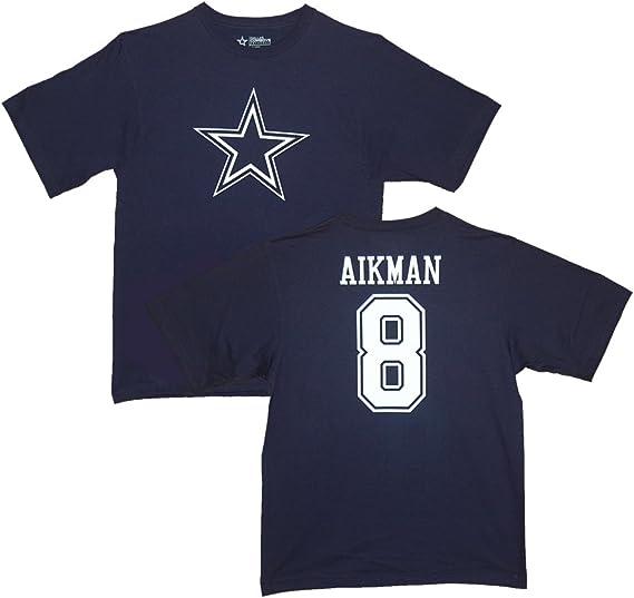 Troy Aikman Dallas Cowboys azul marino leyendas Jersey nombre y número camiseta