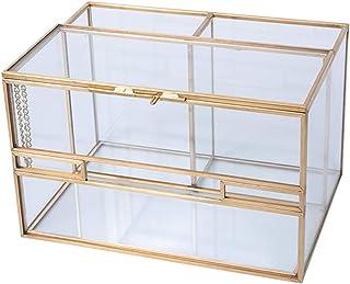 Home Desktop Sundries Storage Box,remote Control Storage Box,glass Desktop Storage Organizer,cosmetic Storage Box,dressing...