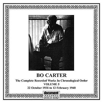 Bo Carter, Vol. 5 (1938-1940)
