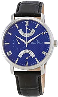 Men's LP-10340-03 Verona Stainless Steel Watch with Black Leather Band