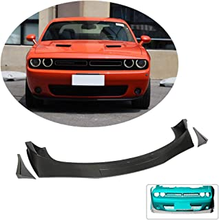 MCARCAR KIT Front Bumper Lip fits Dodge Challenger Coupe 2015-2019 Factory Outlet Carbon Fiber CF Chin Spoiler Splitter Protector