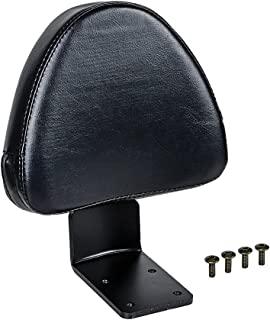 Astra Depot Black Synthetic Leather Rear Passenger Backrest Kit Compatible with Victory High-Ball Zach Ness Kingpin Vegas 8-Ball Cross Country