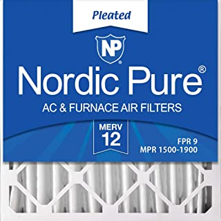 Nordic Pure 20x20x4M12-2 MERV 12 Pleated AC Furnace Air Filters, 2 Pack, 2 PACK, 2 PACK