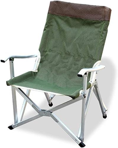 Chaises de pêche Chaise De Pêche Camping En Plein Air portable Chaise Pliante Plage De Pêche Picnic plage Sketch Chair Chaise Longue En Aluminium ( Couleur   Armyvert , Taille   484568 )