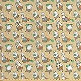 VinMea Guinea Pig Fabric by The Yard, Cartoon Style Hamster