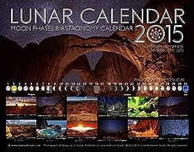 Lunar Calendar 2015 Moon Phases & Astronomy Wall Calendar