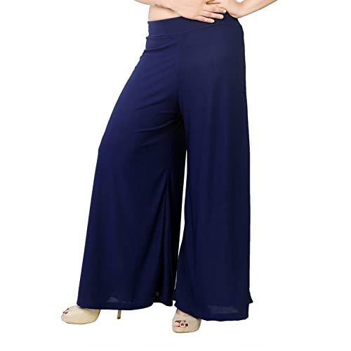 a94df262e1 Tara Lifestyle Stretchable Designer Plain Casual Wear Palazzo Pant for  Women's - Free Size