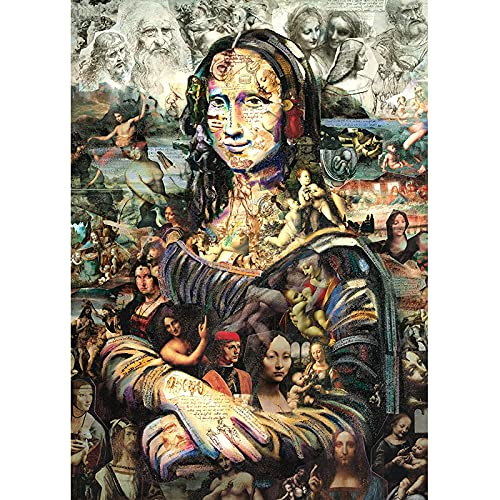 Premium Mona Lisa Puzzle 2000 Pieces-British Puzzle Brand-Interactive 2000 Piece Puzzle with Experience-Premium Puzzle Box(Color:6000 Pieces)