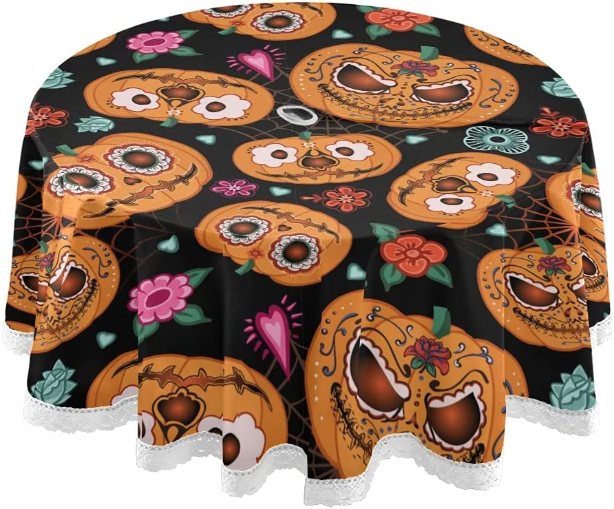 Halloween Colorado Springs Mall Pumpkin Ranking TOP16 Flowers Outdoor Tablecloth Floral Spider Skull
