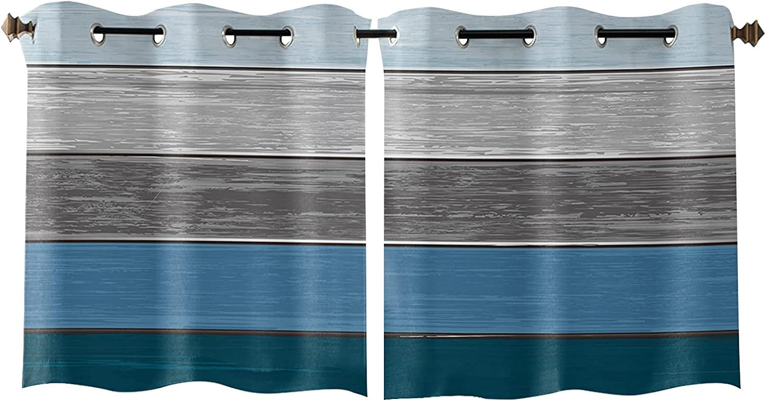 Grommet Arlington Mall Window Curtain Nevy 70% OFF Outlet Grey Rustic Farm Planks House Wooden