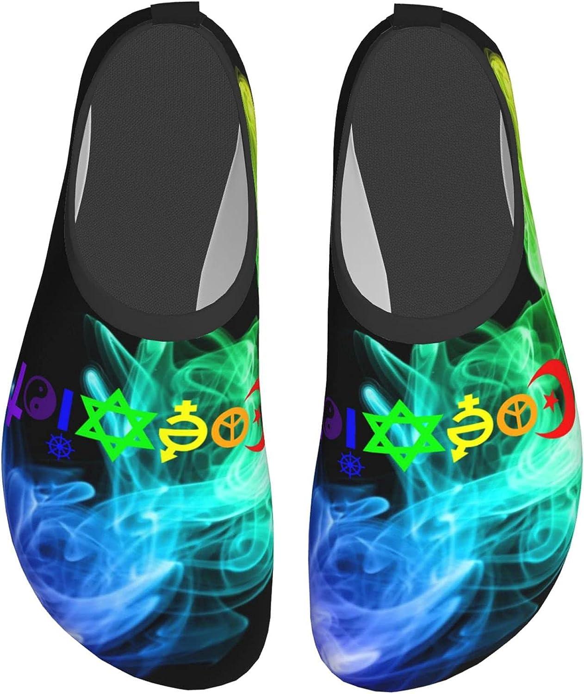 Rainbow Coexist Water Shoes for Womens Mens Unsiex Aqua Yoga Socks Wading Shoes
