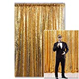 Kate Amarillo Dorado Fondo Fotografía Lentejuelas Photo Booth telón Fondo Lentejuelas Cortina Photo Booth Lentejuelas Tela Boda cumpleaños Christmas Decorations 4x7ft/1.25x2.2m
