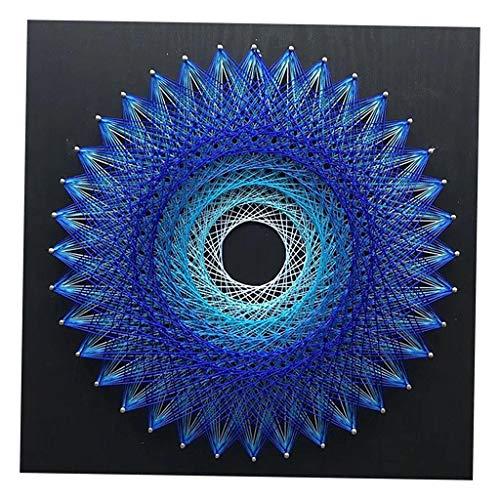 SM SunniMix String Art Handmade Decoration String Art Kits for Kids Adult - Bird's Nest - Blue