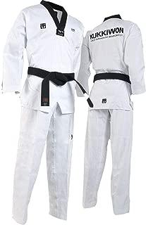 Mooto Korea Taekwondo Kukkiwon BS4 Uniform Clothes Black V-Neck Uniforms Suit Suits MMA Martial Arts Judo Karate Match Training Team Gym Academy
