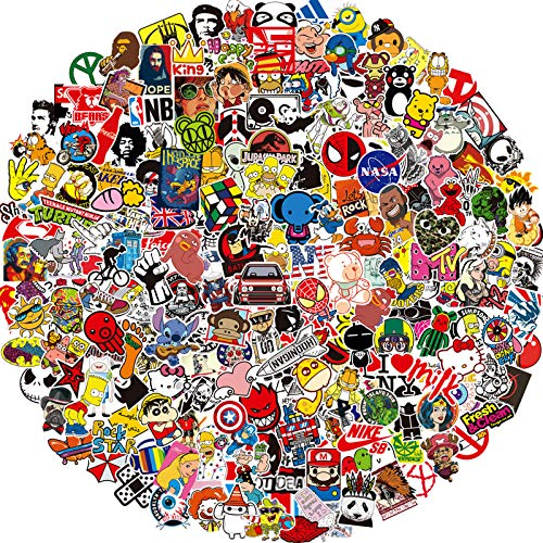 Vinyl Stickers 200 Pack Skateboard Stickers, Anime Stickers for Hydro...