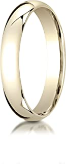 Men's 14K Yellow Gold 4mm Slim Profile Comfort Fit Wedding Band Ring