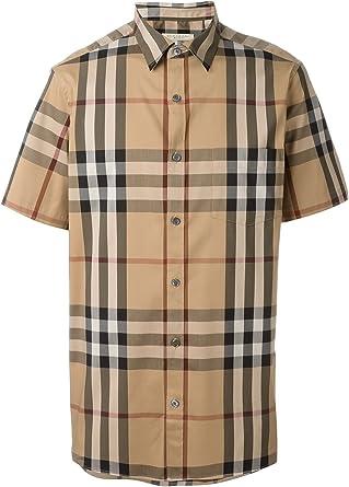 Burberry Brit Nelson Camel - Camisa de cuadros para hombre ...