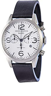 Zeno Vintage Line White Dial Leather Strap Men's Watch 4773Q-I9