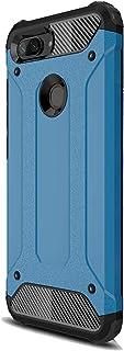 FANFO Funda Xiaomi Mi 8 Lite, Carcasa Elegante Robusta Armadura Híbrida TPU/PC, Anti-Arañazos Panel Trasero + Parachoques TPU A Prueba De Choques. Azul