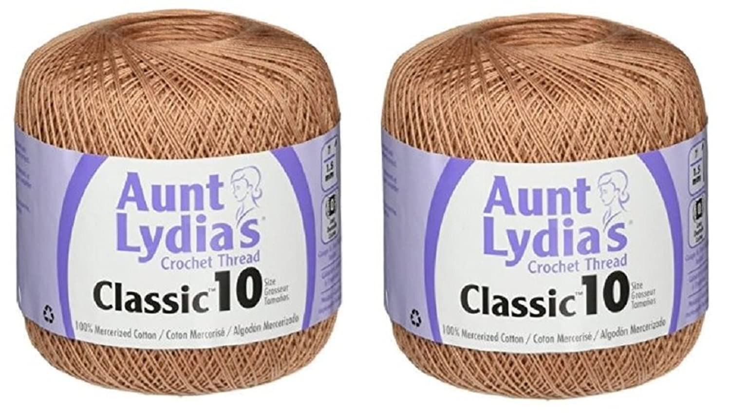 Aunt Lydia's Crochet Thread - Size 10 - Copper Mist (2-Pack)