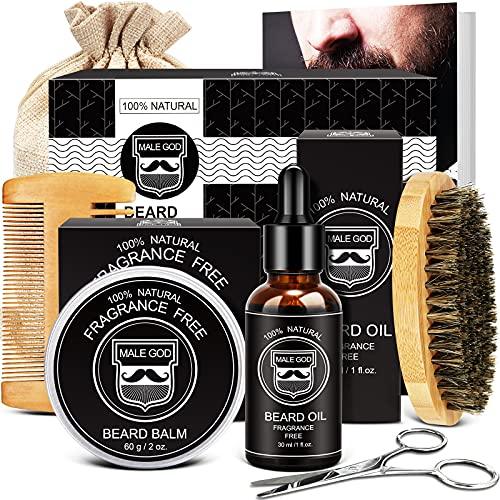 Beard Grooming Kit - Beard Growth Kit with Beard Oil Growth,...