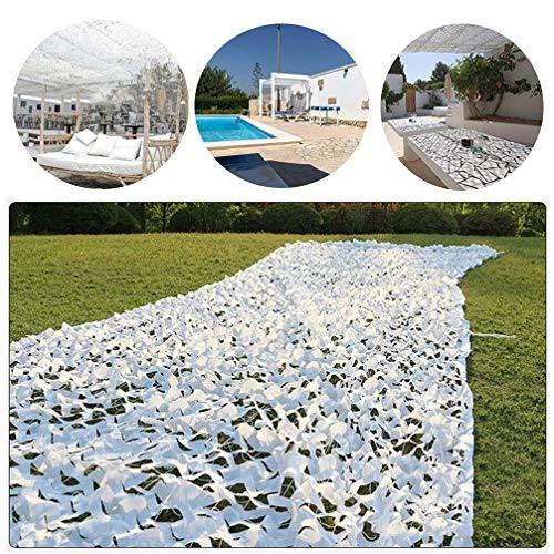 White 210D Camouflage Camo Netting 2x3m,3x4m,3x5m Outdoor Camouflage Net for Camping Military Hunting Shooting Fishing Hide