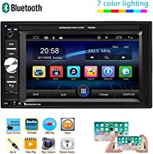 $42 » Hikity 6.2 Double Din Car Stereo Touch Screen Car Radio with Bluetooth FM AUX-in Dual USB SD Input Port Support Mirror Lin...