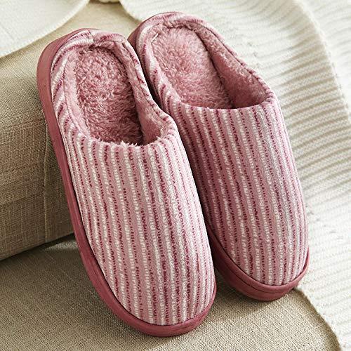 ypyrhh Alta Densidad Espuma de Memoria Zapatos,Pantuflas Gruesas de algodón de Fondo Suave,Pareja de Franela para el hogar Drag-Gray_40-41,Zapatillas de Casa Hombre Mujer Cálido