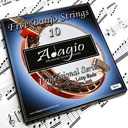 Adagio 2 SETS Professional 5-String Banjo Strings
