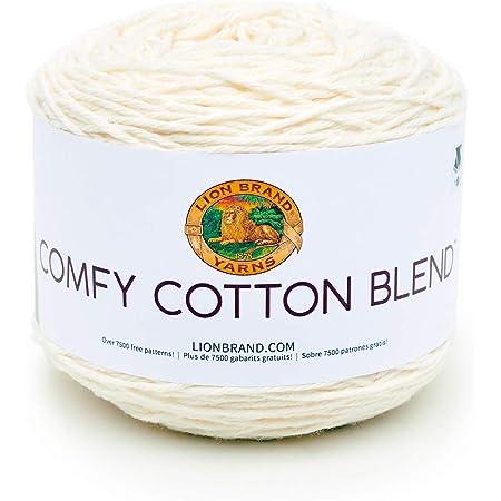 Lion Brand Yarn Comfy Cotton Blend Yarn, Whipped Cream
