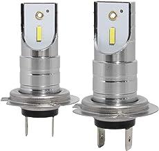 Jrzour LED Headlight Bulbs H7,Halogen Replace Kit,9600lm 6K,CSP Chips Fog Light,Plug and Play,2020 New Gen