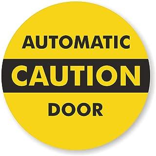 glass door warning