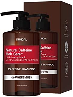 Kundal Scalp Care+ Caffeine Shampoo 500ml (White Musk)