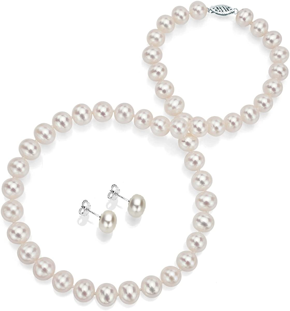 14k Gold White Freshwater Cultured security Pearl and 18