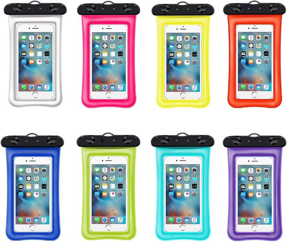 Universal Waterproof Phone Pouch, 2 Pack IPX8 Waterproof Cellphone Dry Bag Compatible for iPhone 11/Xr/X/8/8plus Galaxy s10/s9 up to 6.5