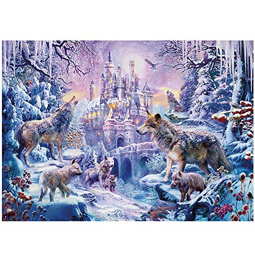 Puzzles, Misteriosos Castillos, Elfos del Bosque, Lobos, Nieve Y Hielo, Familias De Animales, Protegiendo El Bosque, para Adultos, Niños Y Niñas, 1000 Rompecabezas