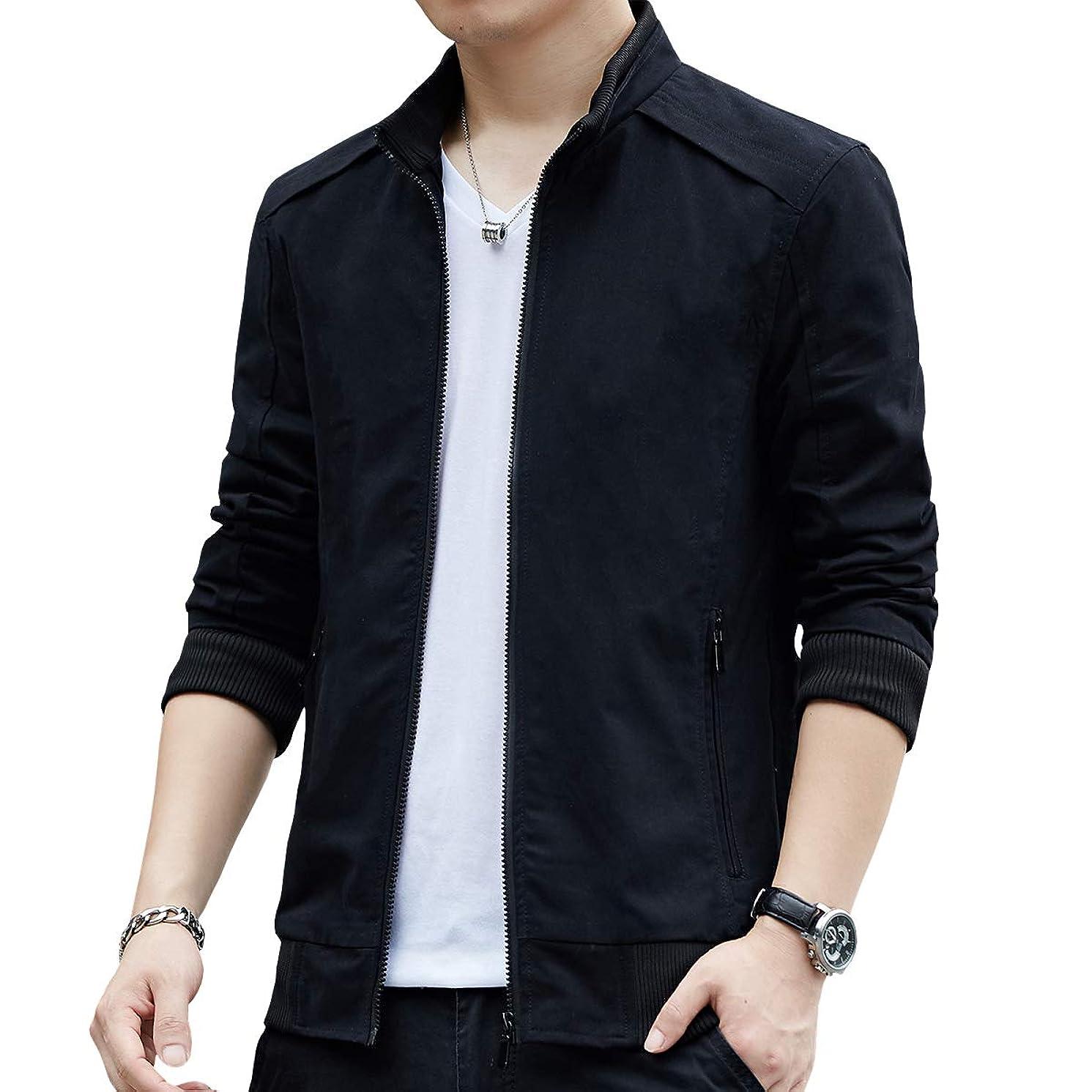 Womleys Mens Casual Windbreaker Outerwear Slim Fit Cotton Lightweight Jackets