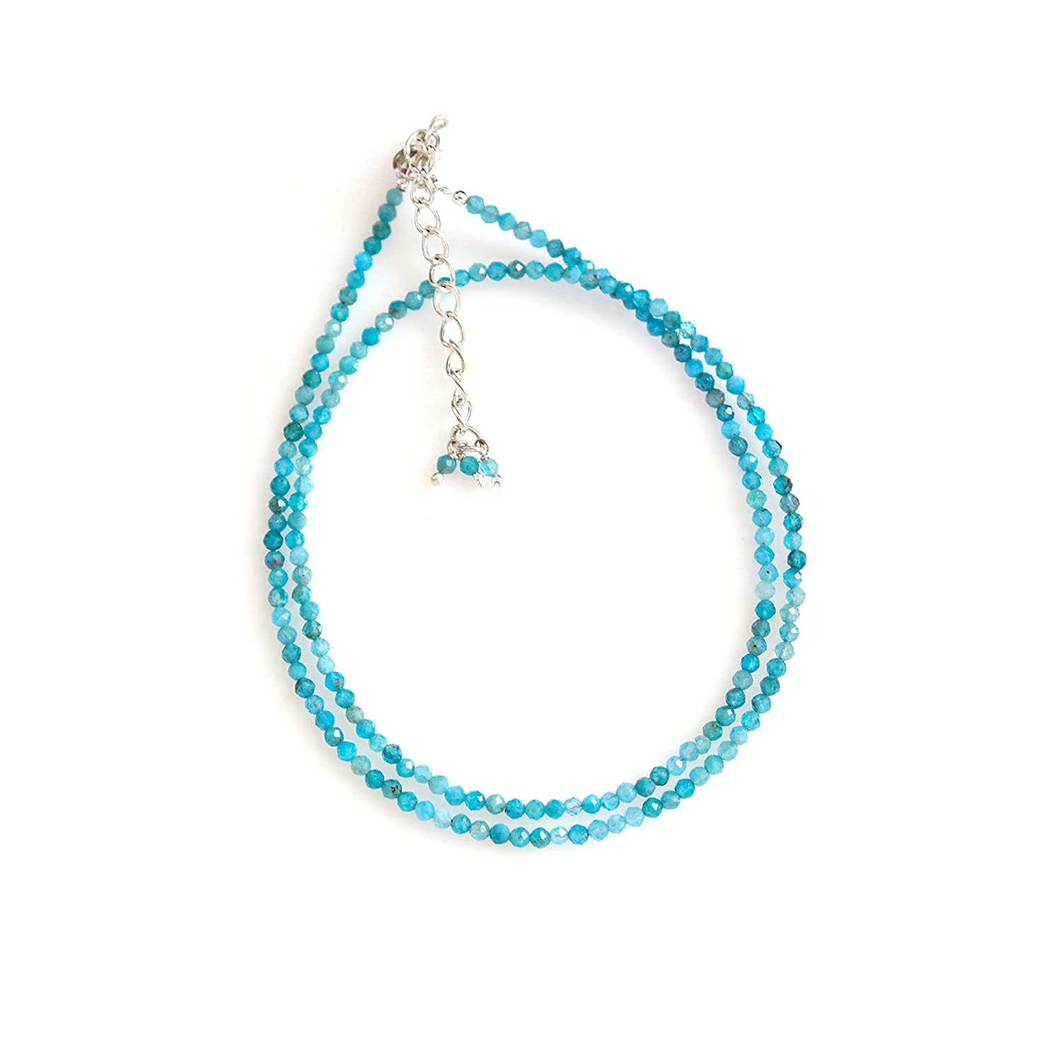 Gempires Don't miss the campaign Natural Neon Apatite Ene Necklace discount Faceted Beads