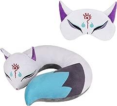 Funbase Charming Fox U Shape Neck Pillow Doll Toy W/Fox Eye Mask Home Travel Rest Gift