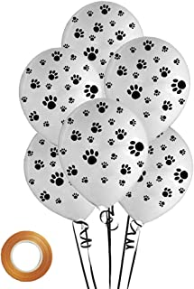 12 inch Latex Paw Balloons White 25 Count for Paw Patrol Theme Party Birthday Party Decor