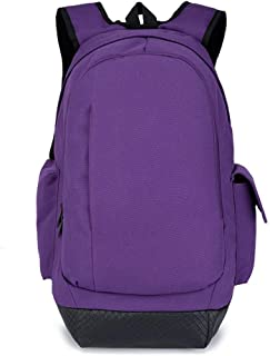 MYXMY Simple Personality Backpack Female Casual Female Backpack Japan and South Korea Fashion Male Computer Bag Student Bag Travel Bag Large Capacity Travel Bag (Color : Purple)