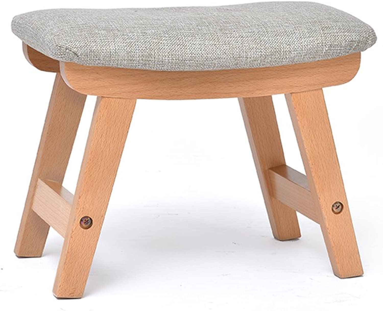 LIUXUEPING Solid Wood Stool Creative Small Bench Adult shoes Bench Sofa Change shoes Bench Fabric Stool (color   Log Pigment)