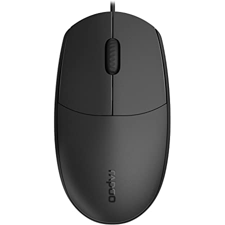Rapoo N100 Wired Mouse 1600 Dpi Right And Left Handed Computers Accessories