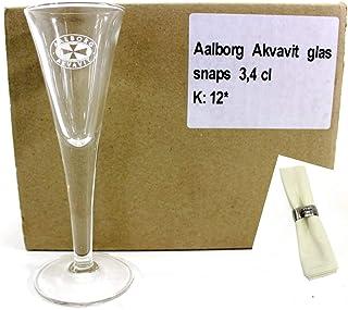 AALBORG Akvavit Gläser 6er Set inkl. Serviette ~mn 843 1132