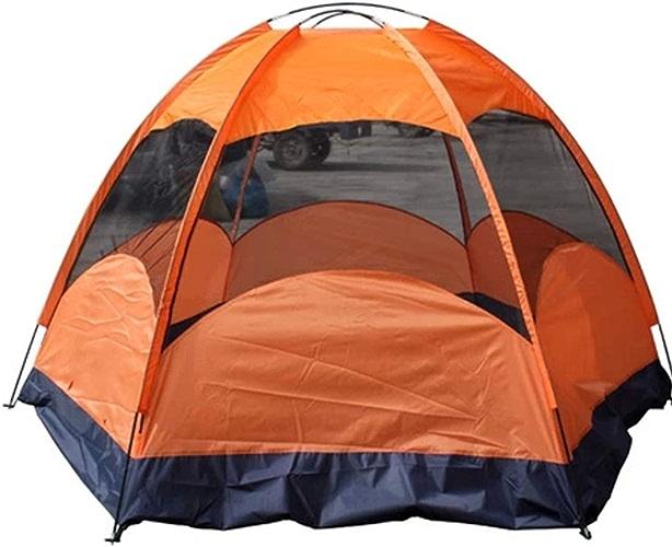 Olprkgdg Tente extérieure de 8 Personnes et 5 Personnes pour Le Camping Sauvage (Couleur   Orange)