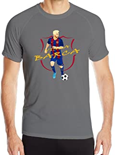 Men's BARCELONA, VISCA BARCA, MESSI Sport Quick Dry Short Sleeves T-Shirt
