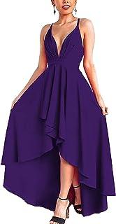 9b8be4e95d21 Amazon.es: Vestido Cortos Elegantes - Morado