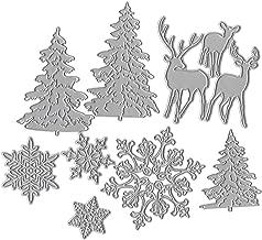 liumiKK Christmas Tree Snowflake Deer Metal Cutting Dies Stencil DIY Scrapbooking Album Stamp Paper Card Embossing Crafts Decor