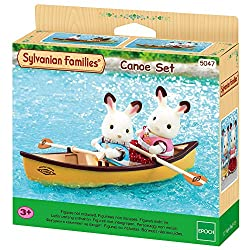 Lovely yellow canoe for Sylvanian children It includes cute life jackets for children It can be connected with swan boat set (sold separately) Stimulating imaginative role-play in children Suitable for ages 3 years to 10 years
